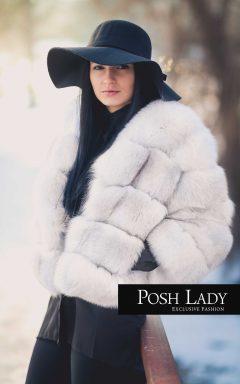 палто полярна лисица