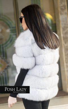 """Палто от натурална полярна лисица """"Frozen"""""""