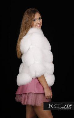 Палто от бяла лисица