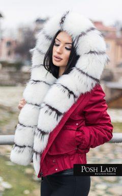 зимно яке с разкошна яка от лисиз