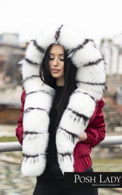 Зимно яке с разкошна качулка от лисица