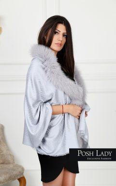 "Пелерина ""Spring Finland Fox Cape – Grey"""