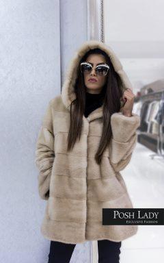 """Палто с качулка от норка """"Brilliance"""""""