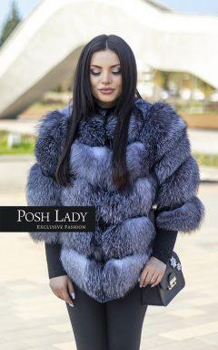 """Палто от естествен косъм на лисица """"Frost Fox"""""""