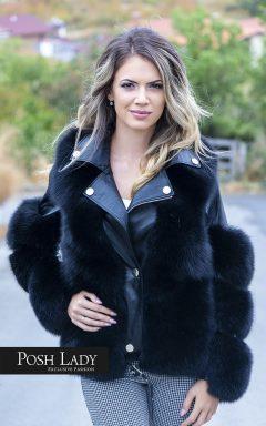 Палто с естесвен косъм