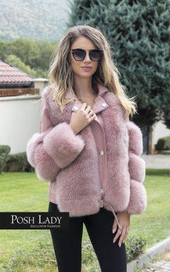 Палто с естесвен косъм от лисица