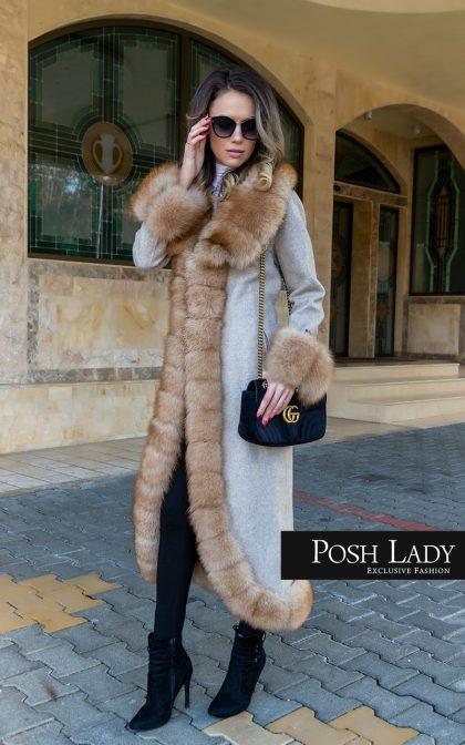 палто от лама и лисица